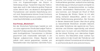 Potenziale der Blockchain