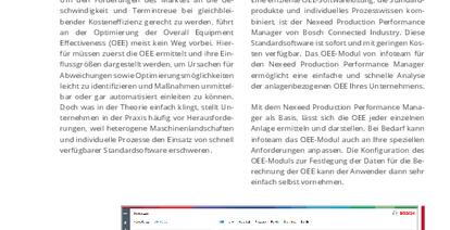 OEE-Modul für den Nexeed Production Performance Manager